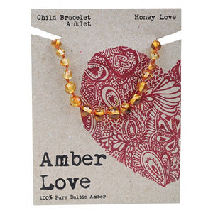 Amber Love 100% Pure Baltic Amber - Child Bracelet/ Anklet