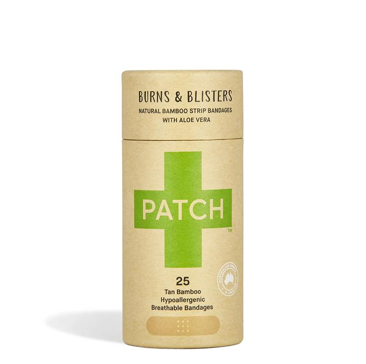 PATCH Aloe Vera Adhesive Bandages - Burns & Blisters - Tube of 25 - Live Pure and Simple