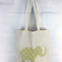 Apple Green Duck Calico Shopping Tote - Animal - Live Pure and Simple
