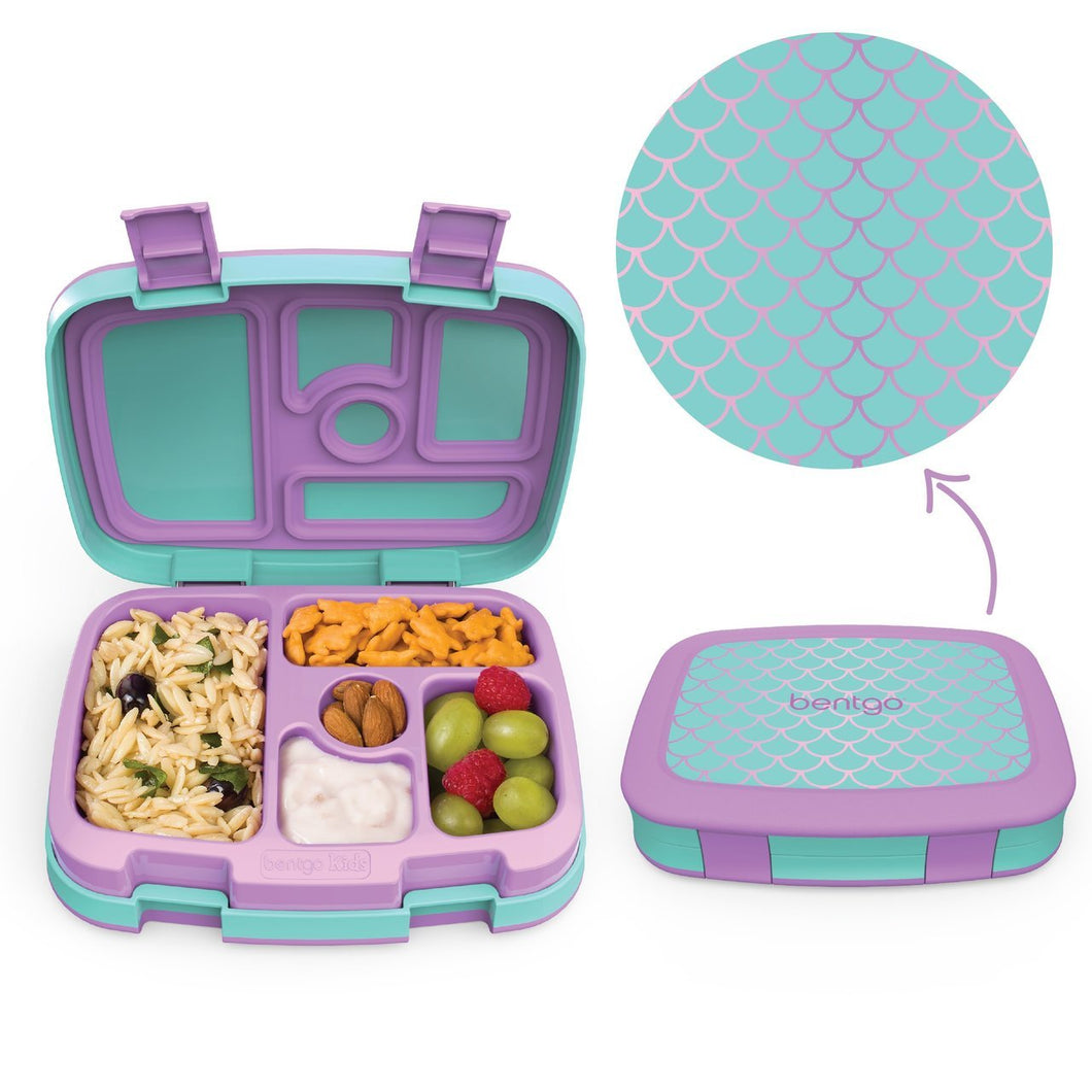 Bentgo Kids Patterned Lunch Box - Mermaid - Live Pure and Simple