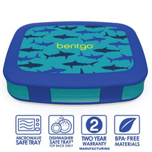 Bentgo Kids Patterned Lunch Box - Shark - Live Pure and Simple