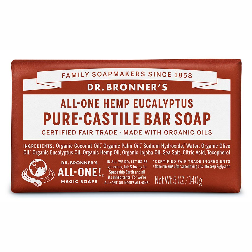 Dr. Bronner's Pure-Castile Bar Soap - Eucalyptus - Live Pure and Simple