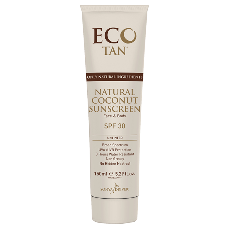 EcoTan Untinted Natural Coconut Sunscreen - Live Pure and Simple