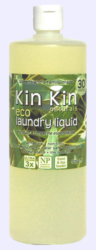 Kin Kin naturals - Laundry Liquid Eucalypt & Tangerine essential oils - Live Pure and Simple