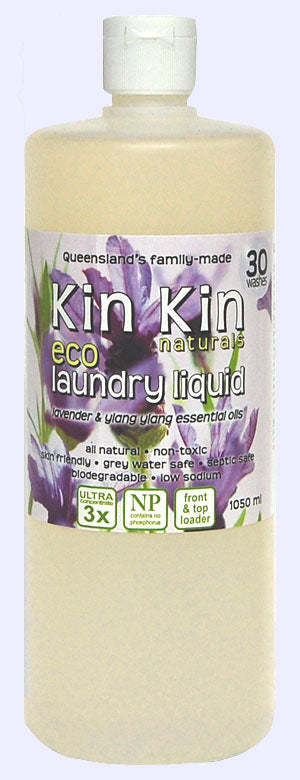 Kin Kin naturals - Laundry Liquid Lavender & ylang ylang essential oils - Live Pure and Simple