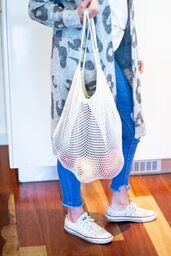 4MyEarth Cotton Net Shopping Bag - Live Pure and Simple
