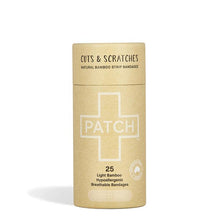 PATCH Natural Adhesive Bandages -Cuts & Scratches - Tube of 25 - Live Pure and Simple