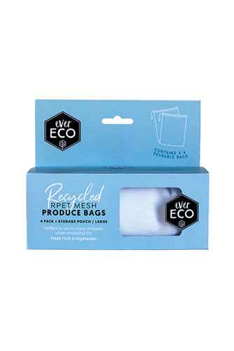 EverEco Reusable Mesh Produce Bag 4 Pack with Storage Pouch - Live Pure and Simple