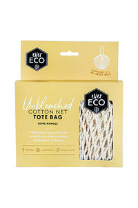 EverEco Cotton Net Tote Bag Long Handle - Live Pure and Simple