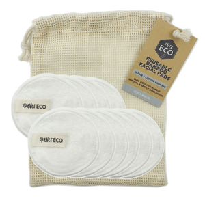 EverEco Reusable Bamboo Facial Pads 10 Pack - Live Pure and Simple