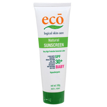 Eco Logical Natural Sunscreen - Baby SPF 30+ - Live Pure and Simple