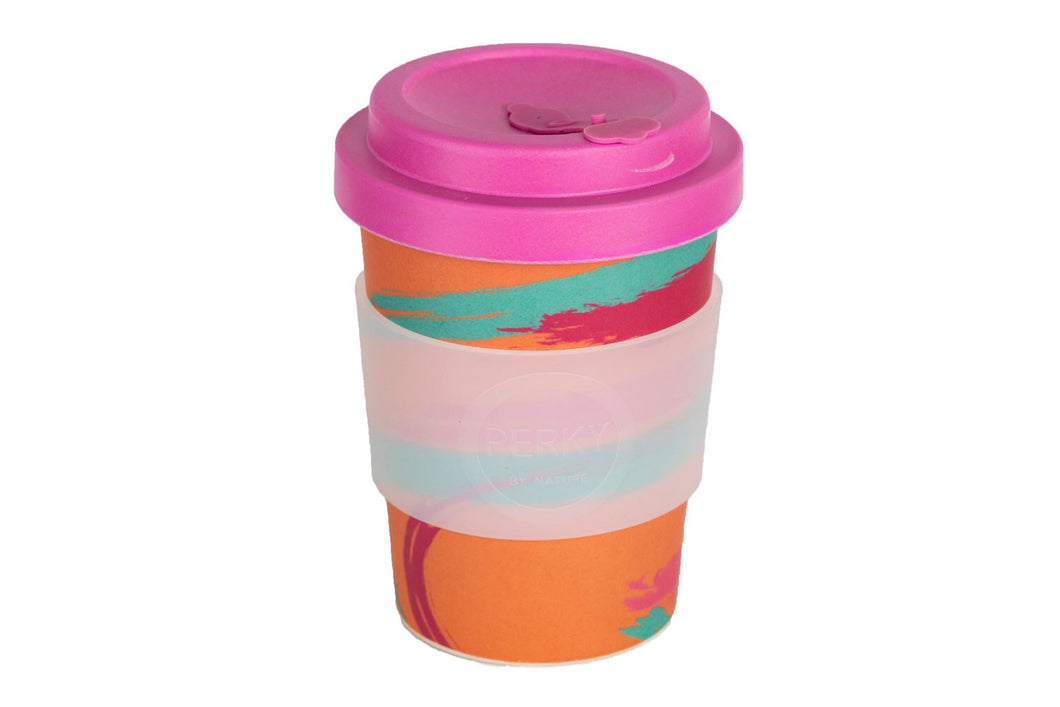 Perky By Nature Bamboo Fibre Reusable Cup - Peachy Perky - Live Pure and Simple