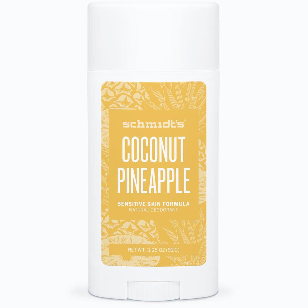 Schmidt's Sensitive Skin Deodorant Stick - Coconut Pineapple - Live Pure and Simple