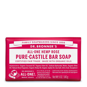 Dr. Bronner's Pure-Castile Bar Soap - Rose - Live Pure and Simple