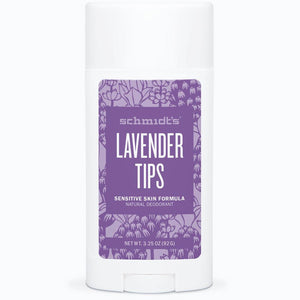 Schmidt's Sensitive Skin Deodorant Stick - Lavender Tips - Live Pure and Simple