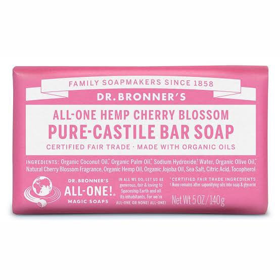 Dr. Bronner's Pure-Castile Bar Soap - Cherry Blossom - Live Pure and Simple