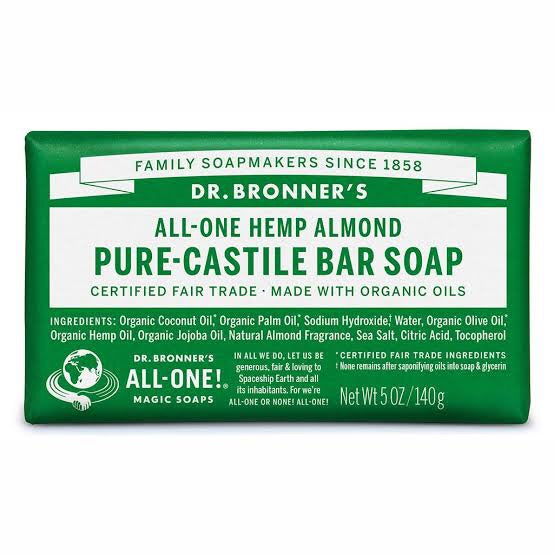 Dr. Bronner's Pure-Castile Bar Soap - Almond - Live Pure and Simple