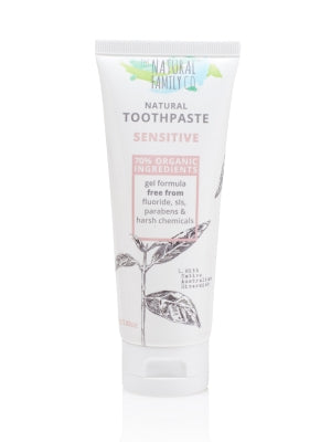 Natural Family Co Sensitive Toothpaste 110g - Live Pure and Simple