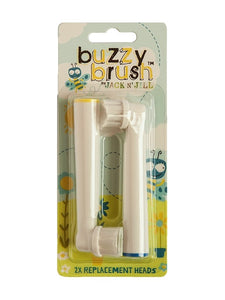 Jack N' Jill Buzzy Brush Replacement Heads 2pk *NEW* Only compatible with New Buzzy Brush - Live Pure and Simple