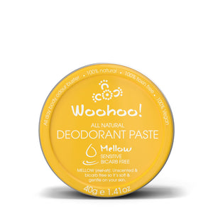 Woohoo All Natural Deodorant Paste - Mellow (Sensitive)