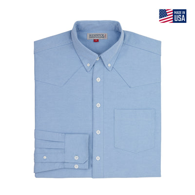 Resistol Oxford Dress Button Blue - Resistol