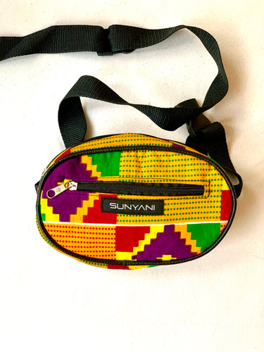 Candy Kente Fanny Pack