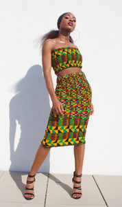 Jamaica Kente Midi Skirt