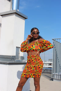 Kente Queen Off-Shoulder Top