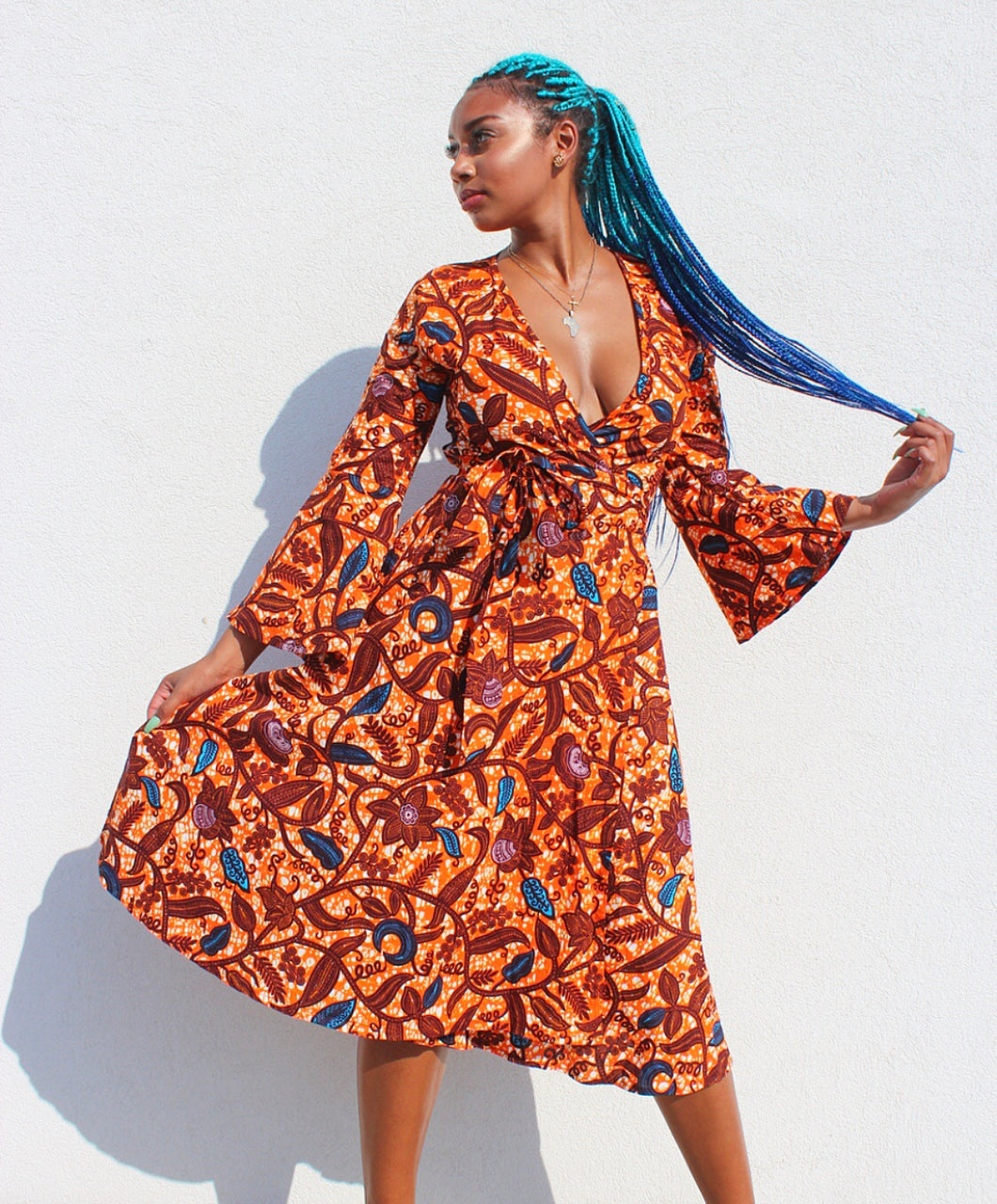Akeba Wrap Dress