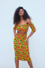 Ama Kente Bandeau Top With Sleeves