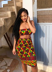 Marley Kente Bandeau Top