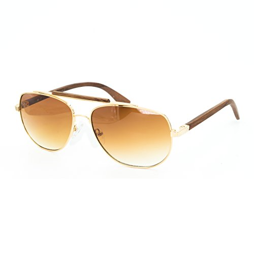 Bamboo rosewood aviator sunglasses w/ rosewood sweat bar for Men or Women - premium sourced, reinforced bamboo sunglasses are designed for durability and will last for years, top quality & design