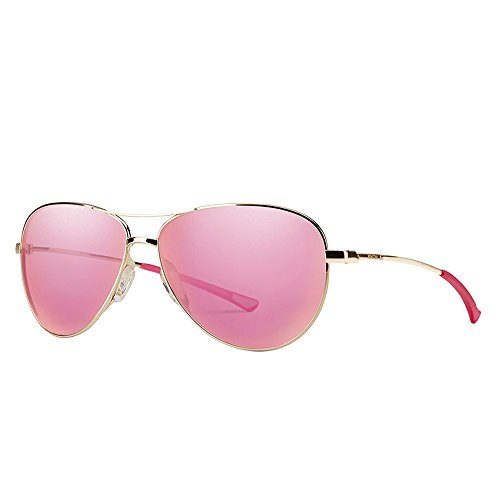 Smith Optics Langley Carbonic Sunglasses, Gold, Pink Sol-X