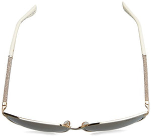 Jimmy Choo Women's Posie Sunglasses, Ivory/Brown, One Size