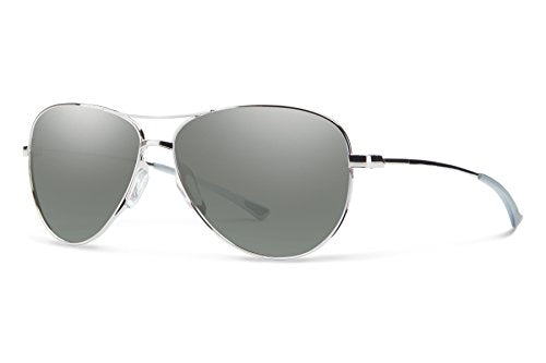Smith Optics LANGLEY Sunglass, Carbonic Platinum Lens, Silver