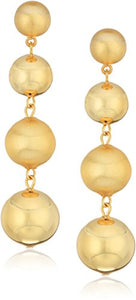 Rebecca Minkoff Statement Sphere Gold Drop Earrings