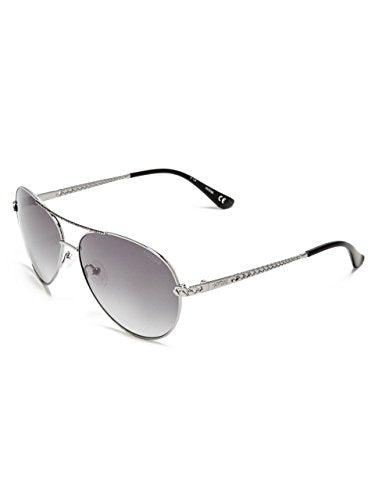 GUESS Women's Catherine Rhinestone Aviator Sunglasses