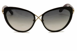 Tom Ford Women's Daria Cateye Sunglasses, Black/Gold