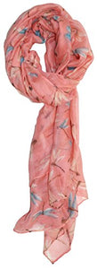 Ted and Jack - Dreamy Dragonfly Overall Print Scarf (Pale Peach)