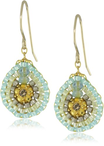 Miguel Ases Swarovski Small Drop Earrings