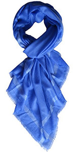 Ellettee, Sapphire Fashion 96% Cashmere Scarf Classic Premium Shawl Luxurious Elegant Solid Color Wrap Art Oversized Sunscreen Shawl Infinity Beach Wrap , Oblong