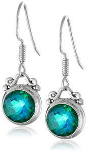 Sterling Silver Caribbean Quartz Drop Earrings