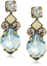Sorrelli Navette Crystal Drop Earrings, Coastal Mist