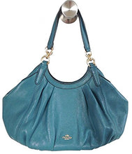 LILY SHOULDER BAG IN REFINED NATURAL PEBBLE LEATHER (Dark Teal)