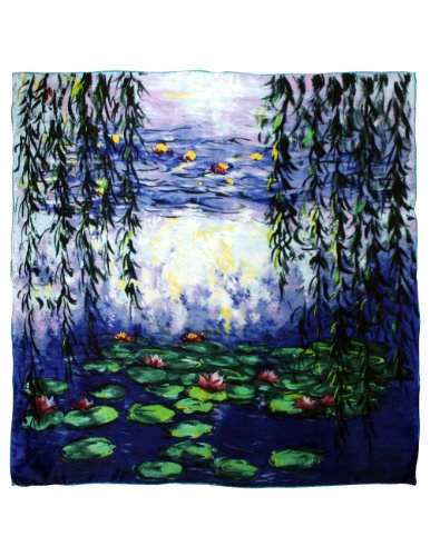 Dahlia Women's 100% Square Silk Scarf - Claude Monet