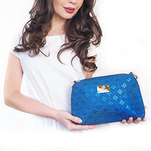 Original Handbags for Women Giulia Meyer Premium Faux Leather Fashion Blue Shoulder Bag, Purse, Crossbody Bag and Wallet + eBook on Taking Care of Your Body and Mind