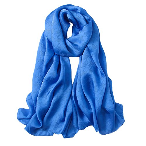 PenGreat Women's Ravishing Jacquard Solid Color Silk Shawl Wrap Pashmina Cover Up