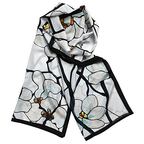 100% Silk Shawl Scarf for Womens Scarves Magnolia Louis Comfort Tiffany Inspired