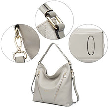 BOSTANTEN Leather Handbags Designer Tote Purses Shoulder Bagsfor Women Grey