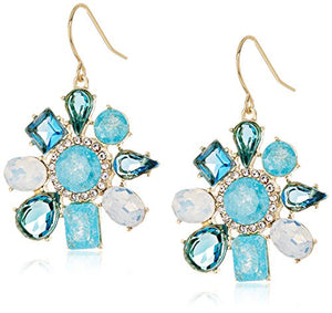 "Carolee ""Cracked Stone"" Irregular Cluster Drop Earrings"